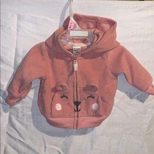 Plush pink bear hoodie